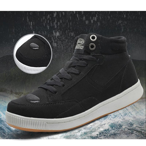 Men's Explosion Models Plus Velvet Thick Warm And Fertilizer Wide Protective Waterproof Snow Boots