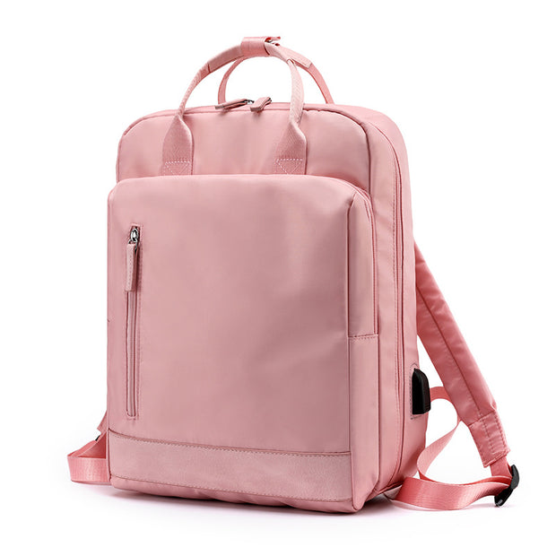 139313 Frauen Oxford Tuch Multifunktions Casual Rucksack USB Computer Tasche