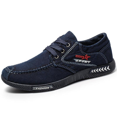 Men Pure Color Old Peking Canvas Non Slip Soft Casual Shoes