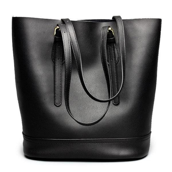 Frauen echtes Leder Handtasche High End Tote Bag Bucket Bag