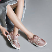 Frauen Casual Outdoor Rocker Sohle Slip On Platform Sneakers