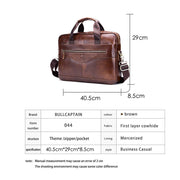 Herren Leder Schultertasche Messenger Bag Head Layer Rindsleder Multifunktionale Handaktentasche