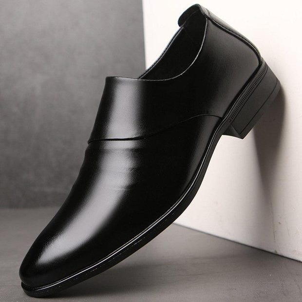 Men Microfiber Leather Non Slip Busines Slip On Casual Formal Shoes