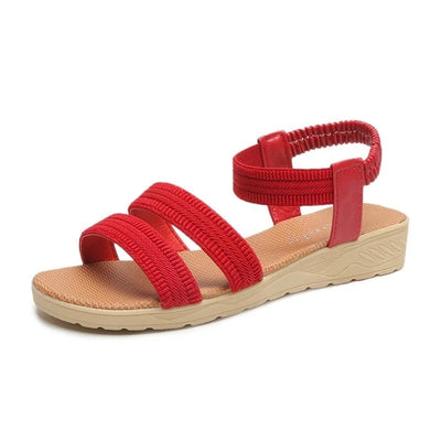Damen Sommer Slip-On Open Toe Sandalen