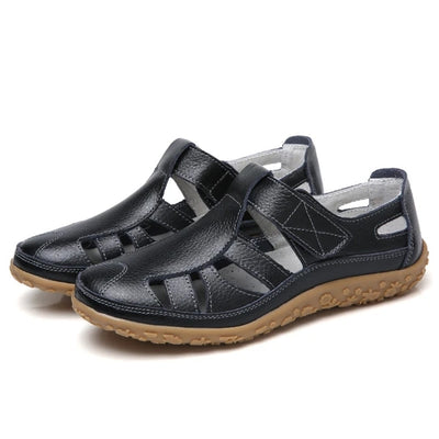 Frauen PU Sandalen Casual Comfort Magic Tape Schuhe