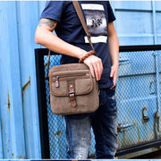 Herren Canvas Fashion Casual Schultertasche Business Messenger Bag