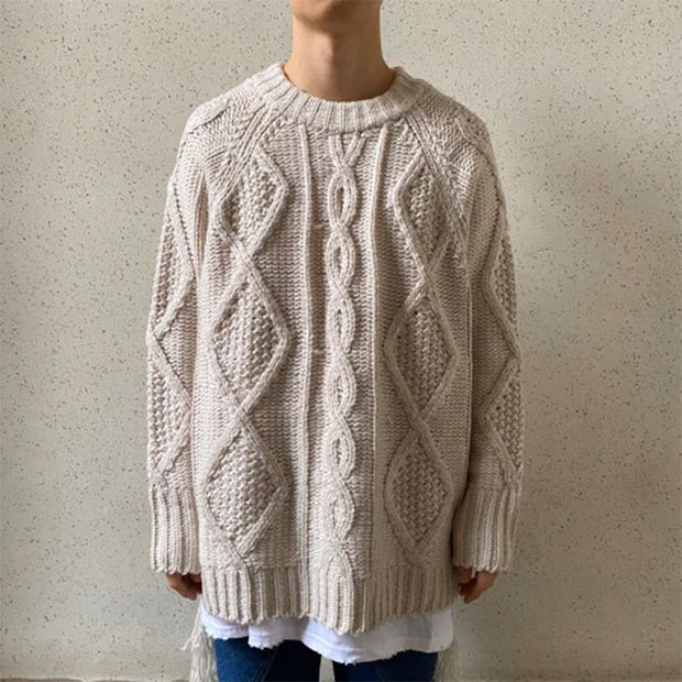Men's Stylish Apricot Crew Neck Sweater TT107