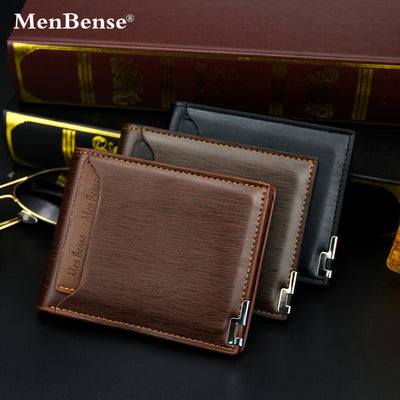Herren Geldbörse Short Multifunctional Fashion Casual Iron Edge Card Wallet