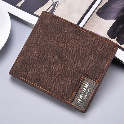 Herren Short Casual Canvas Slim Wallet