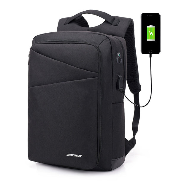 Herren Smart USB Charging Rucksack Canvas Polyester Wasserdicht Business Casual Computer Rucksack