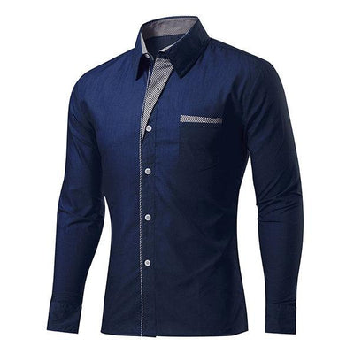 Herrenmode Langarm Slim Design Formal Casual Dress Shirt