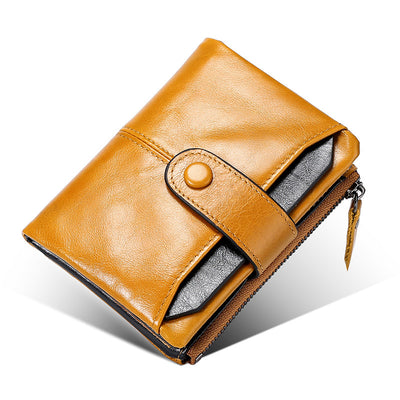 Männer Echtes Leder-Multifunktions-Business-Short Wallet