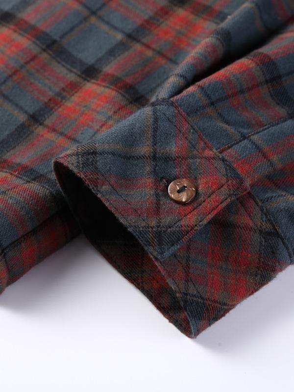 Winter Style Plaid Long Sleeves Lamb Kaschmirfutter Hemd
