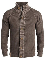 Standard-Knopf Plain Fall Fashion Sweater