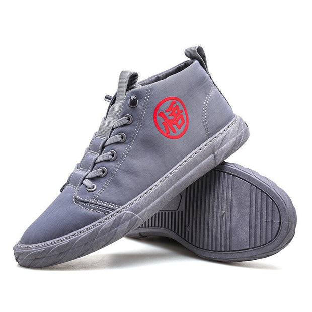 Men Ice Seidenstoff atmungsaktiv Lace Up High Top Sneakers