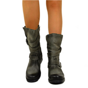 Frauen Retro Schnalle Entwurf Bequeme Large Size Wear-Resistant Short Boots