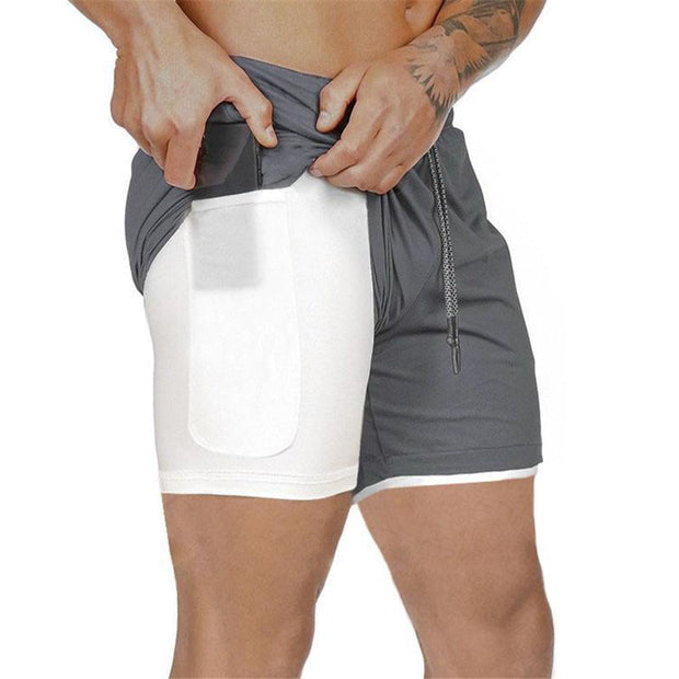 Outdoor Sports Doppelte atmungsaktive Fitness-Shorts