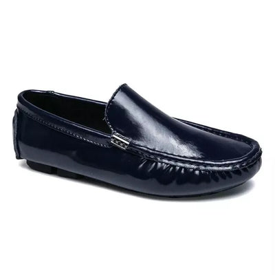 Herren Temperament Große Lackleder Slipper