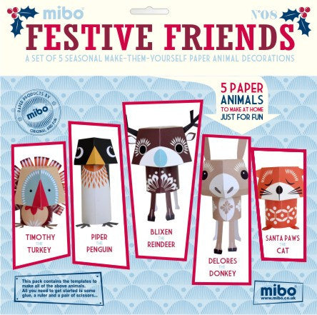 Paper Animals - Festive Friends