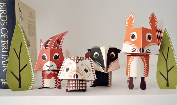 Paper Animals - Mibo's Forest Family