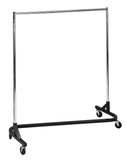 BA48SC 2 WAY GARMENT RACK SATIN CHROME