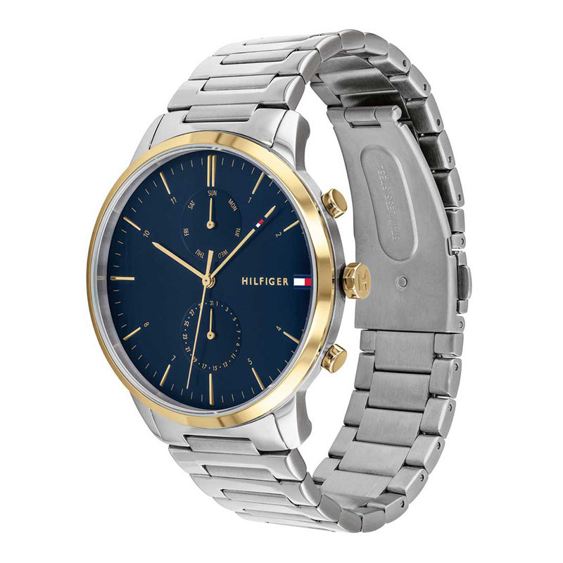 Tommy Hilfiger 1710408 Hunter Blue Dial Two Tone Stainless Steel Bracelet Watch