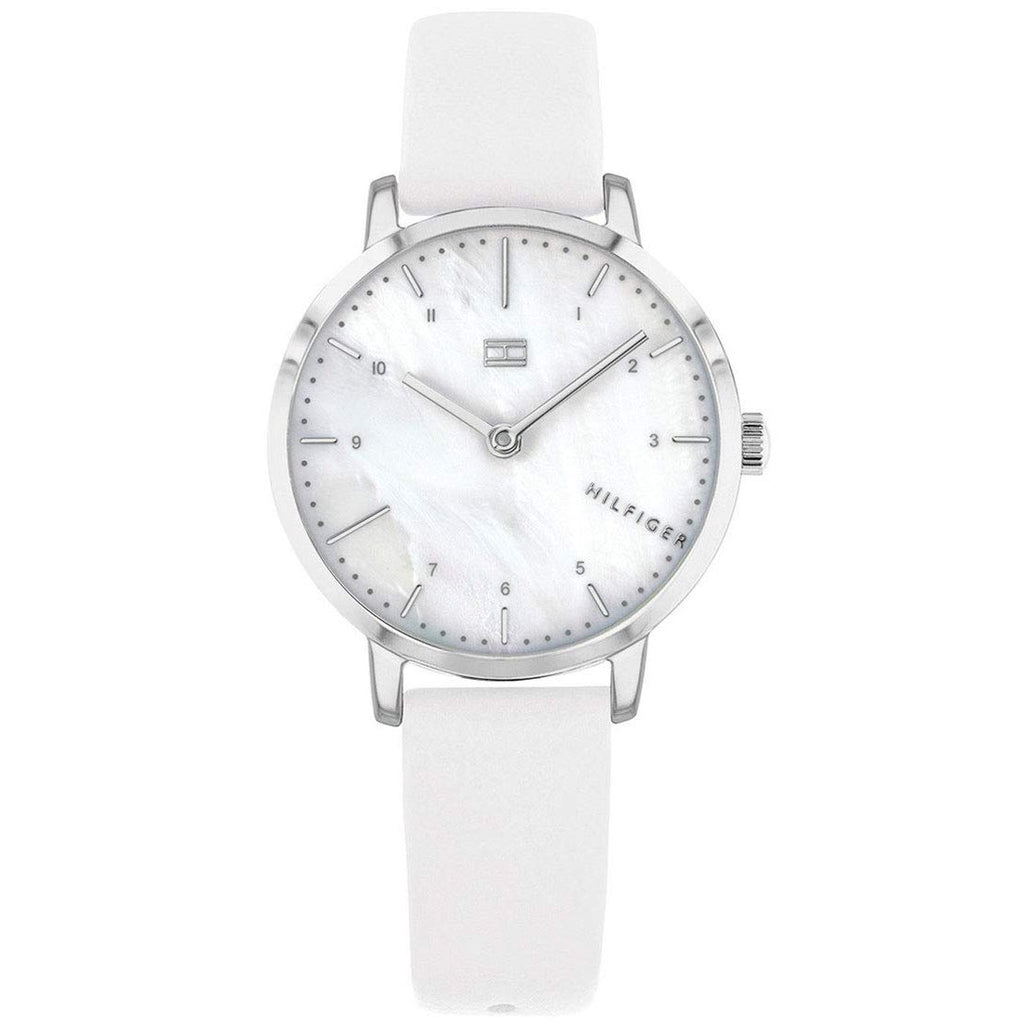 Tommy Hilfiger 1782037 Dress Watch With White Leather Strap