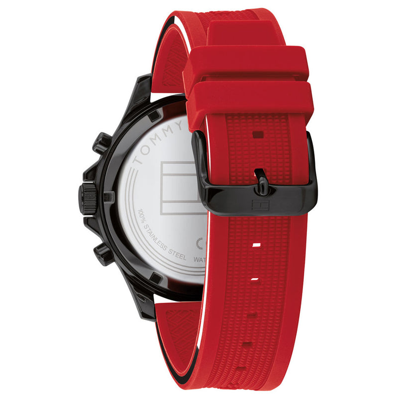 Tommy Hilfiger 1791722 Bank Red/Black Men's Watch