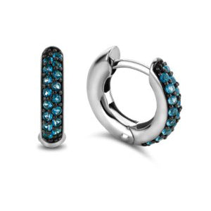 Ti Sento 7210db Milano Dark Blue Shimmering Stone Earrings