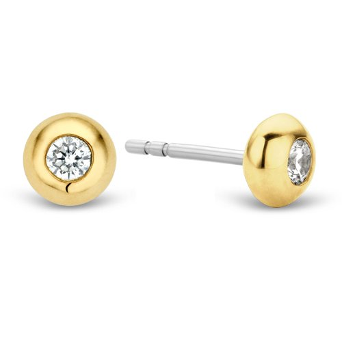 Ti Sento 7760zy Milano Silver Gold Plated Earrings