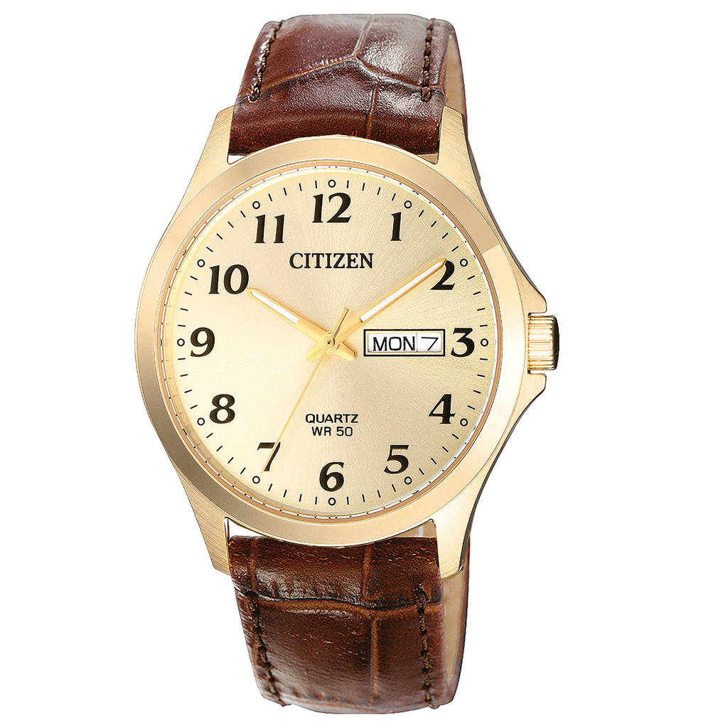 Citizen BF5002-05P Men's Leather Strap Buckle Watch