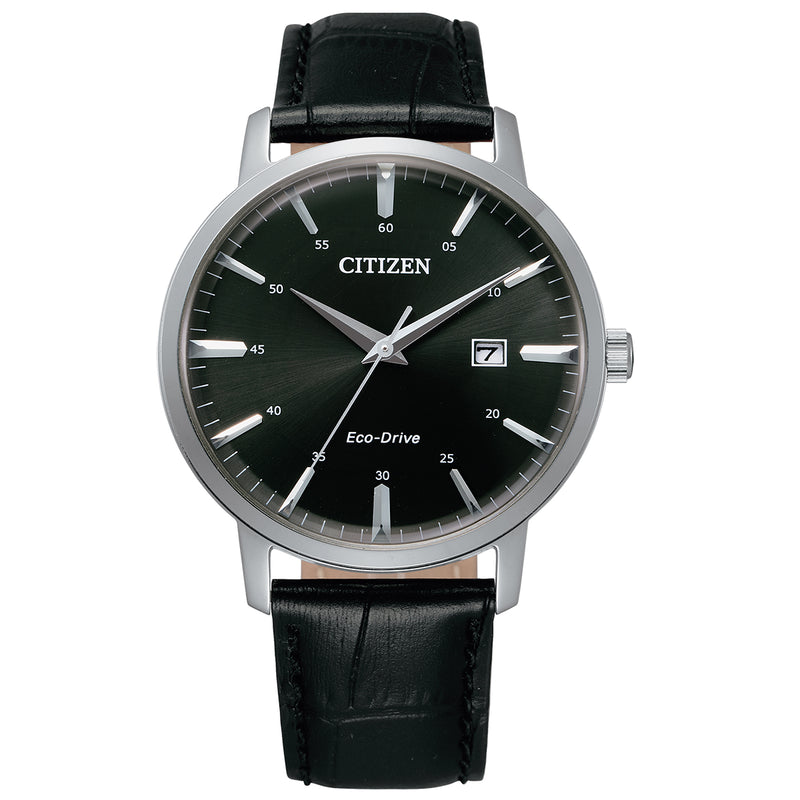 Citizen BM7460-11E Men's Black Leather Strap with Strap Buckle Watch