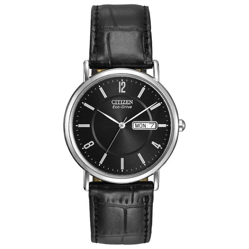 Citizen BM8240-03E Men's Black Leather Strap Buckle Watch