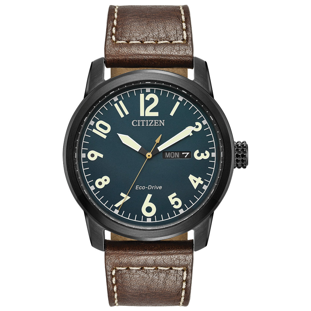 Citizen BM8478-01L Men's Brown Leather Strap Buckle Watch
