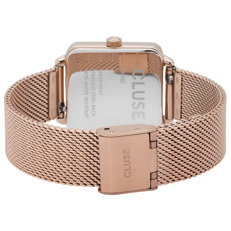 Cluse CL60003 La Tétragone Mesh Rose Gold/White Watch