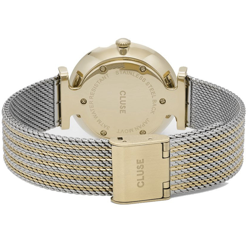 Cluse CL61002 Triomphe Mesh Gold Bicolour Watch