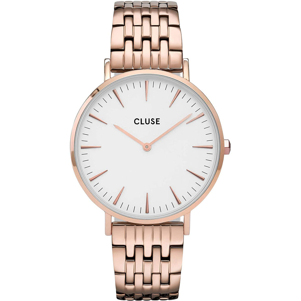 Cluse CW0101201024 La Bohème Steel White Rose Gold Colour Watch