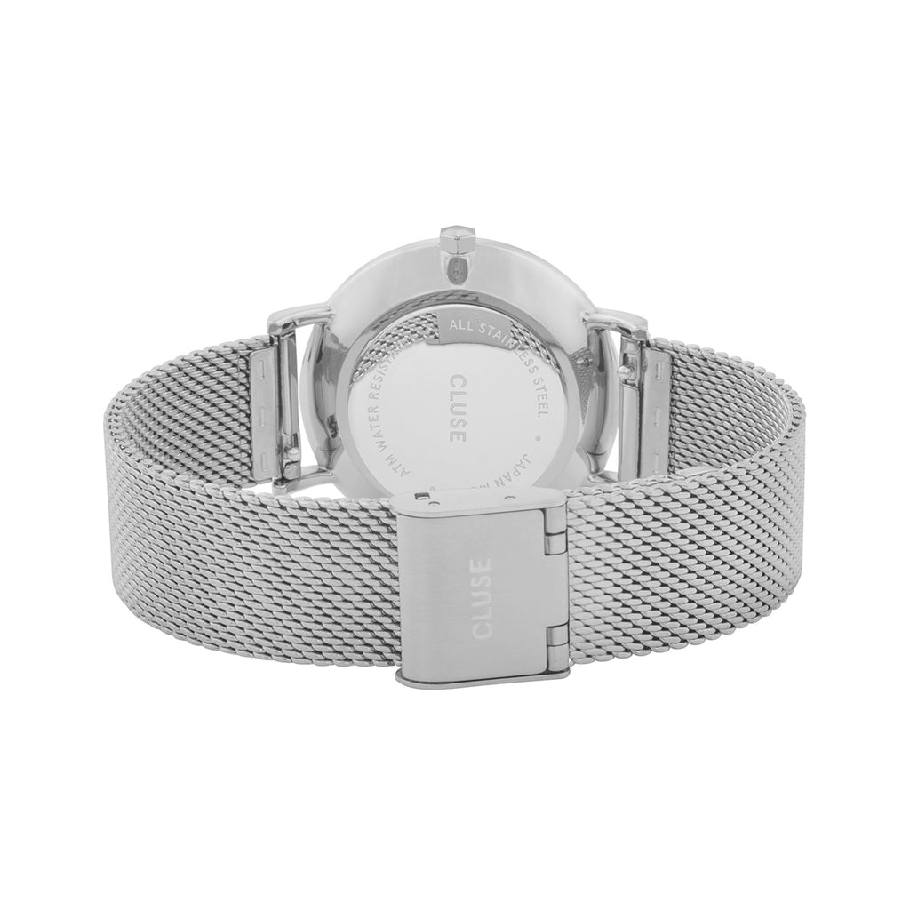 Cluse CW0101203002 Minuit Mesh Silver White/Silver Watch