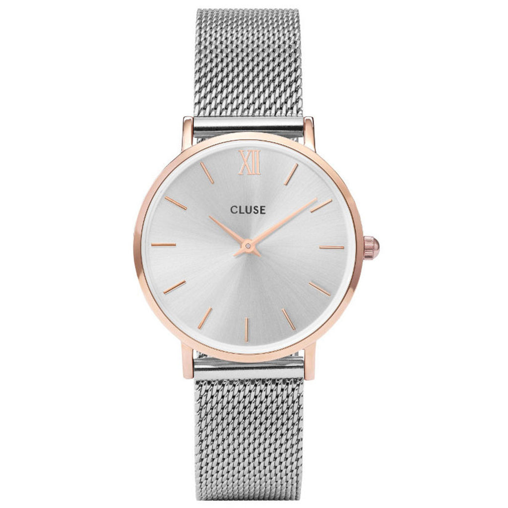 Cluse CW0101203004 Minuit Mesh Rose Gold Silver/Silver Watch