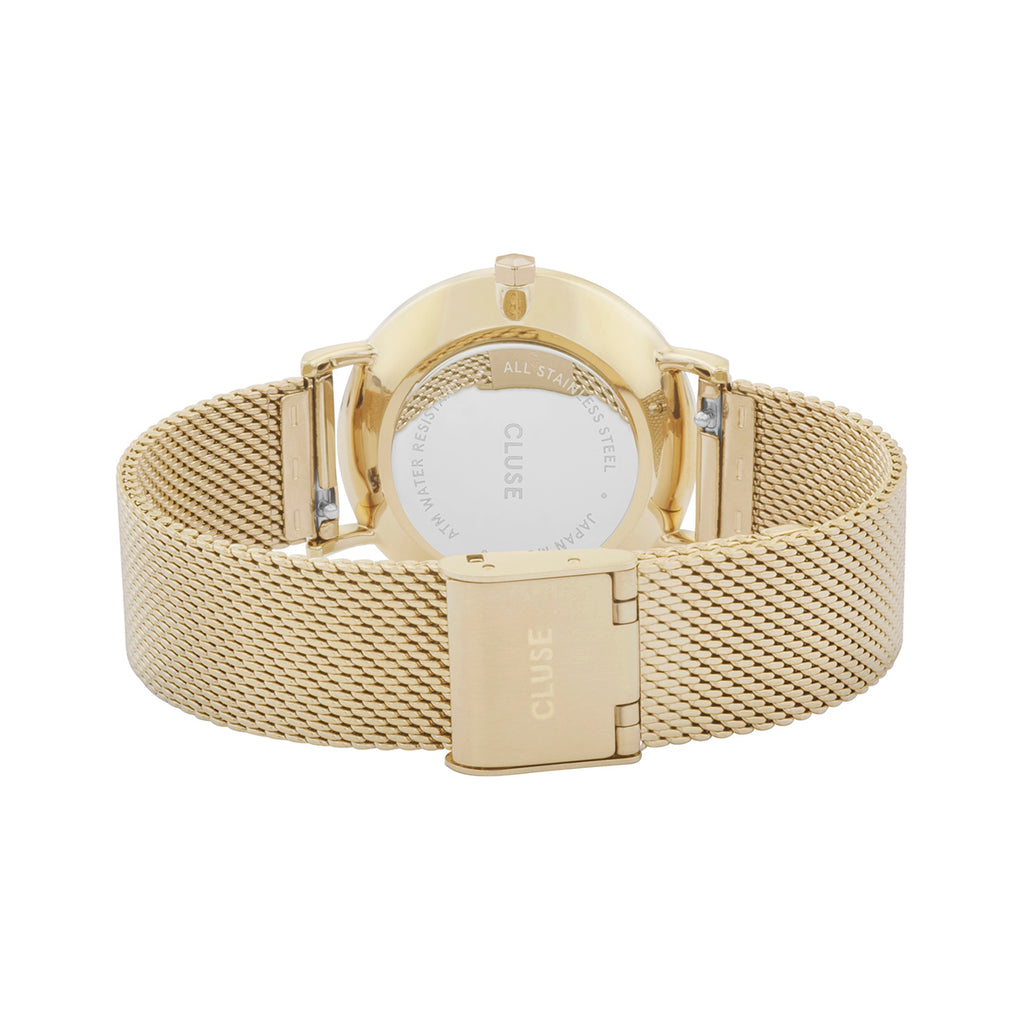 Cluse CW0101203007 Minuit Mesh Gold White/Gold Watch