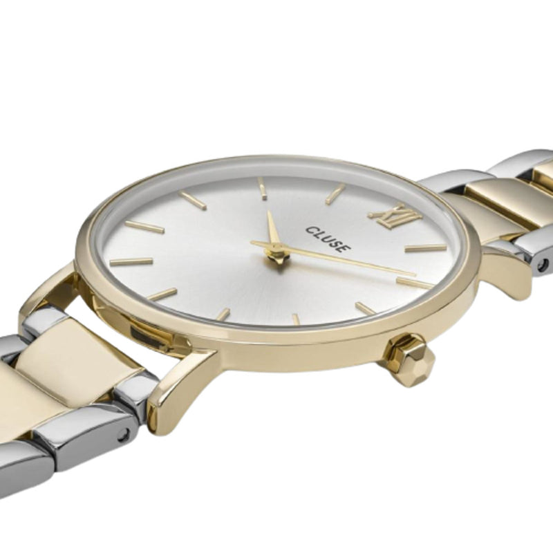 Cluse CW0101203028 Minuit 3-Link Gold Silver/Gold/Silver Watch