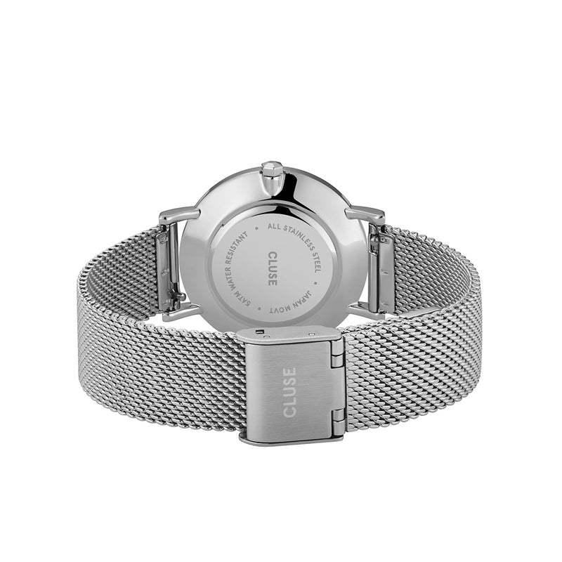 Cluse CW0101203029 Minuit Mesh Silver Rose Gold/Silver Watch