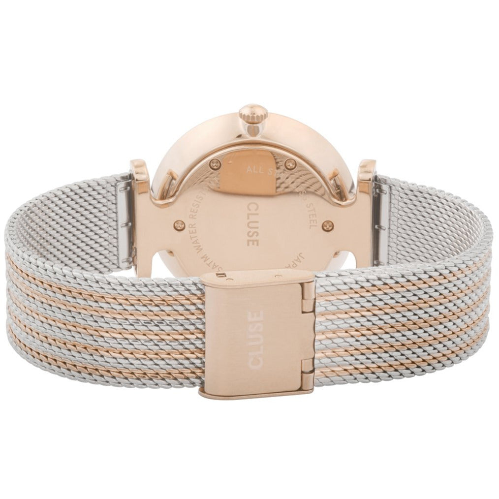 Cluse CW0101208001 Triomphe Mesh Rose Gold White/Silver/ Rose Gold Watch