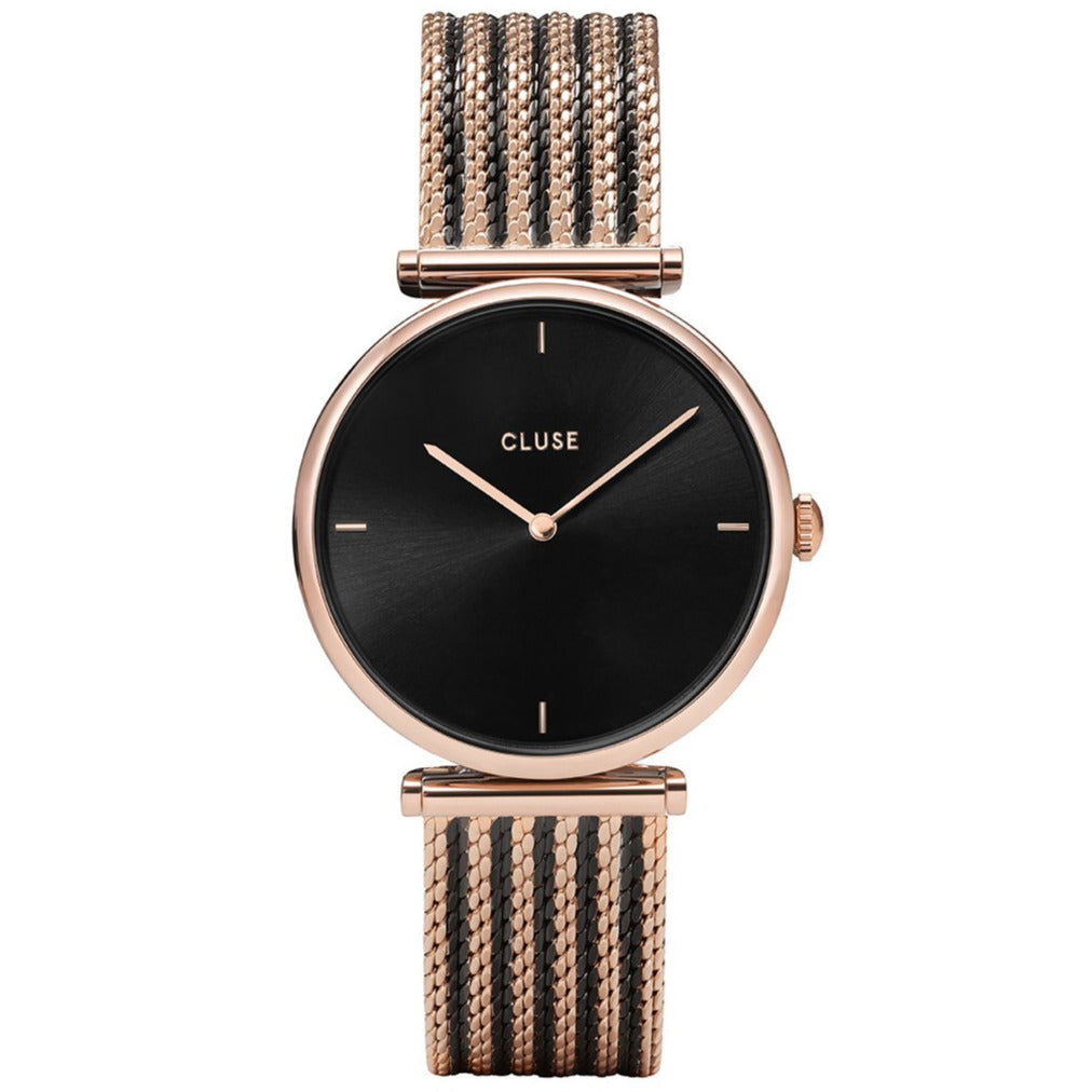 Cluse CW0101208005 Triomphe Mesh Rose Gold Black/Black/Rose gold Watch