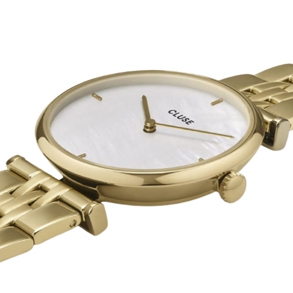 Cluse CW0101208014 Triomphe 5-Link Gold White Pearl/Gold Watch