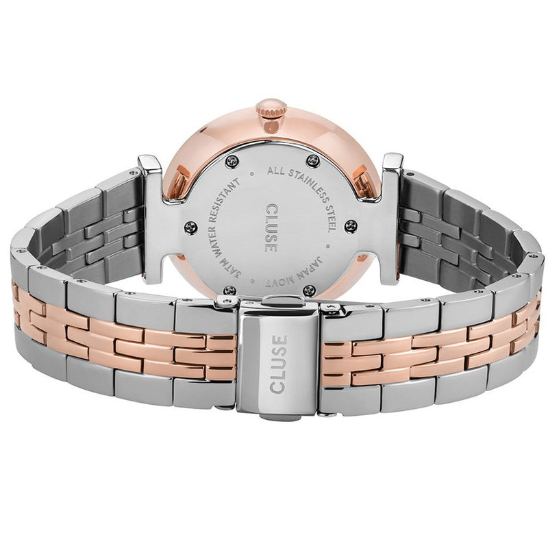 Cluse CW0101208015 Triomphe 5-Link Rose Gold White Pearl/Silver/Rose Gold Watch