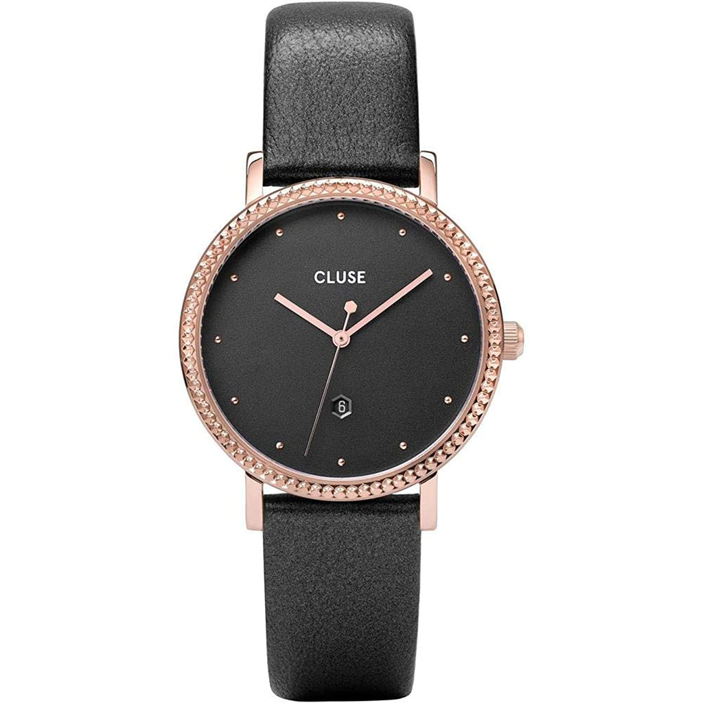 Cluse CW0101209007 Le Couronnement Leather Dark Grey Rose Gold Colour Watch