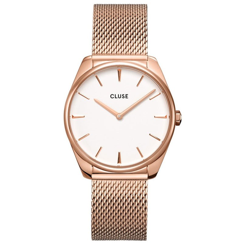 Cluse CW0101212002 Féroce Mesh Rose Gold White/Rose Gold Watch