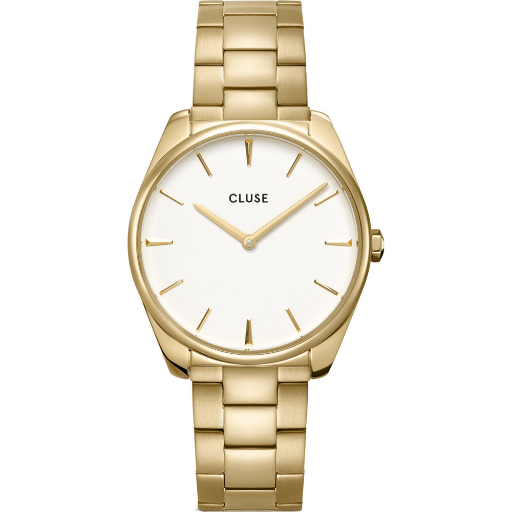 Cluse CW0101212005 Féroce Steel White, Gold Colour Watch