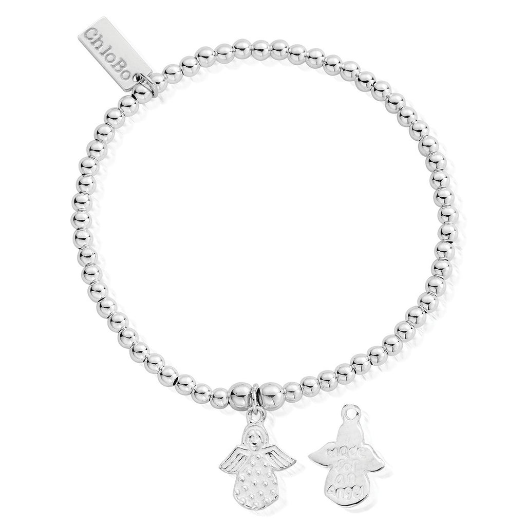 Chlobo Cute Charm Made For An Angel Bracelet - Silver